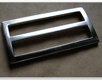 """10pcs 2 inch (inner size) Nickel alloying rectangle sliders 3mm thickness,,Rectangular / Square Flat Rings, silver Finish, , 2"""""""
