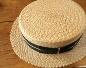 Vintage  Vintage  GentleMen's  Chap  Straw Hat - olduniquetreasures
