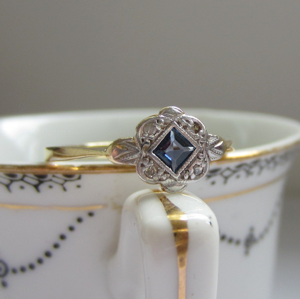 1950s Sapphire And Diamond Ring Engagement Ring In By Addy