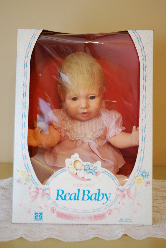 Hasbro Wide Eyed Real Baby 1985 New In The By