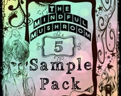 5 Sample Vials of Artisan Oil Hand Blended by The Mindful Mushroom - You Pick The Scent