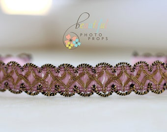 Victorian Halo Headband in Pink