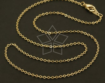 CH-078-GD // 10 Pcs - Chain Necklace with Lobster Clasp (SF235), Gold Plated over Brass / 16 inch