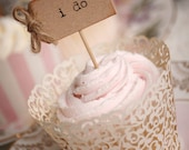 i do Party Picks - kraft brown with rustic twine bows - set of 10