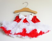 Peppermint Pettiskirt Holiday / Christmas Tutu - Red, white