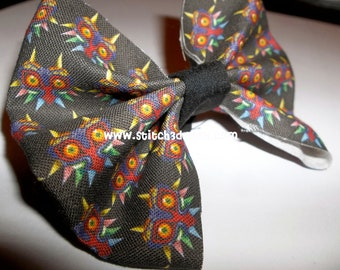 MAJORAS MASK Legend of Zelda Fabric hair bow or bow tie
