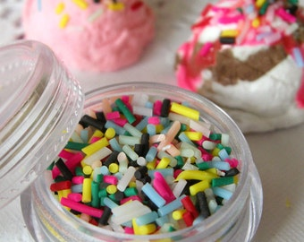 Fake Colorful Chocolate Sprinkles Topping Faux Chocolate Flakes Miniature Sweets Cupcake Cookie Cell Phone Deco (2.5g) TP002