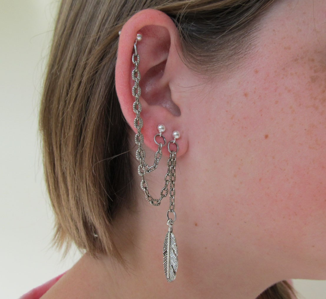 Multiple Piercing Triple Piercing Cartilage Earring and Single