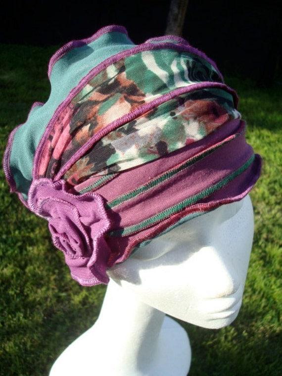womens headband adult chemo hat headcover funky gypsy bohemian headwear headscarf neckwarmer