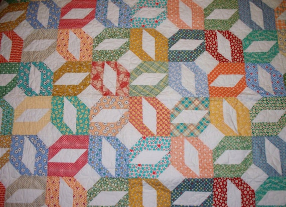 Colorful 1930 Inspired Quilt