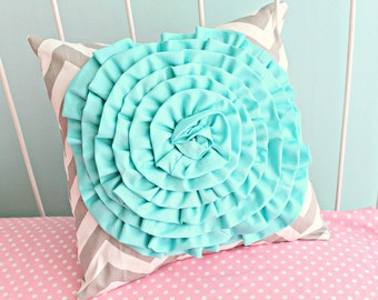 Candy Chevron Ruffle Pillow