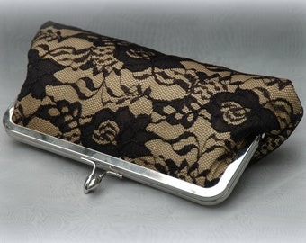 Lustful Lace- Kisslock Clutch  (Choose your colors)