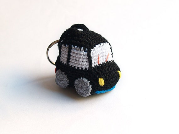 Amigurumi Free Patterns Keychain : Black crochet car amigurumi keychain. Choose your favourite