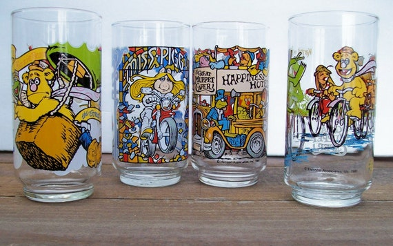 Vintage 1981 McDonalds Muppet Capers Collectible Glasses
