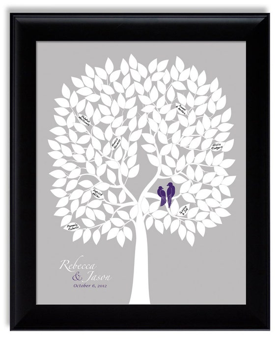 Alternative Silver Wedding Gifts : ... eggplant purple silver gray, lapis purple wedding gift, 16x20 for 200