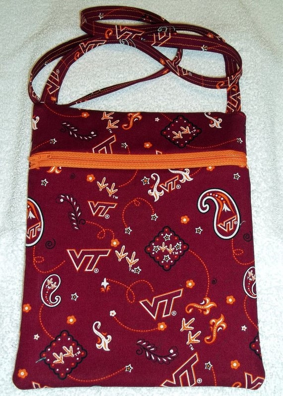 Handmade Virginia Tech Hokies - Cross Body Game Day Bag