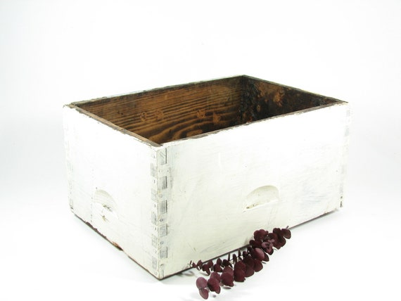Vintage Wooden Bee Colony Box White Wood Beehive Crate