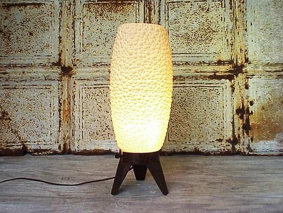 Vintage Mid Century Modern Bubbles Table Lamp