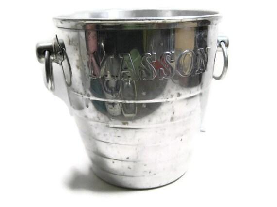 Rare Vintage Paul Masson Vineyards Aluminum Champagne Bucket
