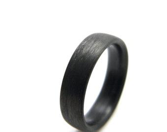 Custom Carbon Fiber Ring in 'Linear' Grain, 6mm YOU CHOOSE SIZE