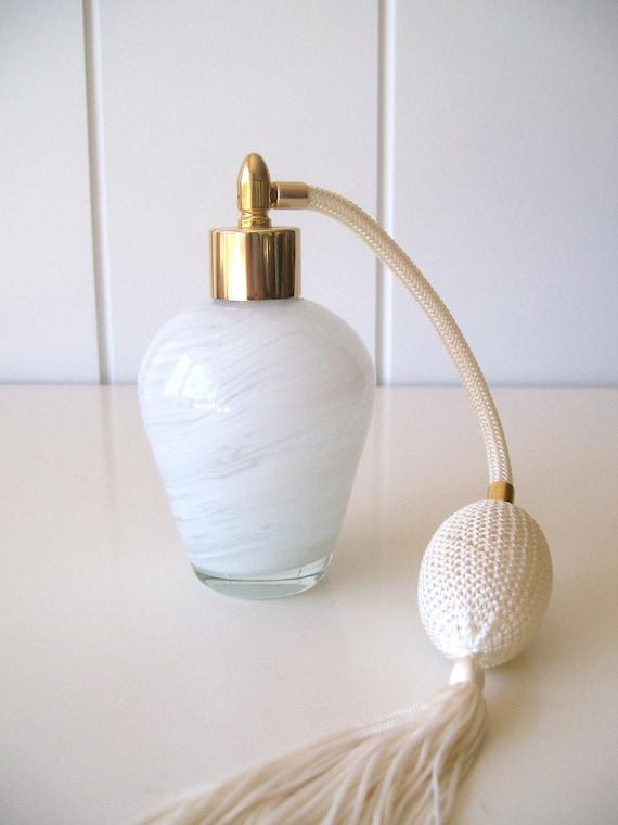 White Glass Perfume Atomizer