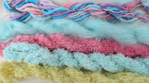 Assorted Mohair Boucle Mini skeins Yarn No.24