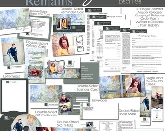 The Memory Remains Marketing Template COLLECTION- custom branding templates for photographers- 17 must-have forms and items