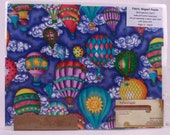 Hot Air Balloons fabric Magnet Puzzle: Upcycled from Scrubs