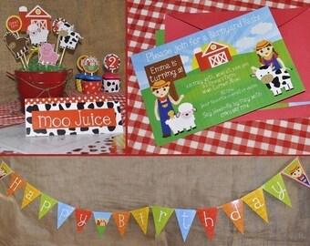 Printable Barnyard/ Farm Banner