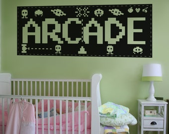 Vinyl Wall Decal Sticker Arcade Sign OSAA442s