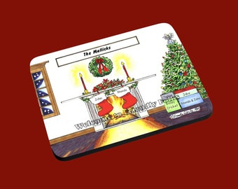 personalized Personalized Christmas 2 Stocking image Mouse Pad