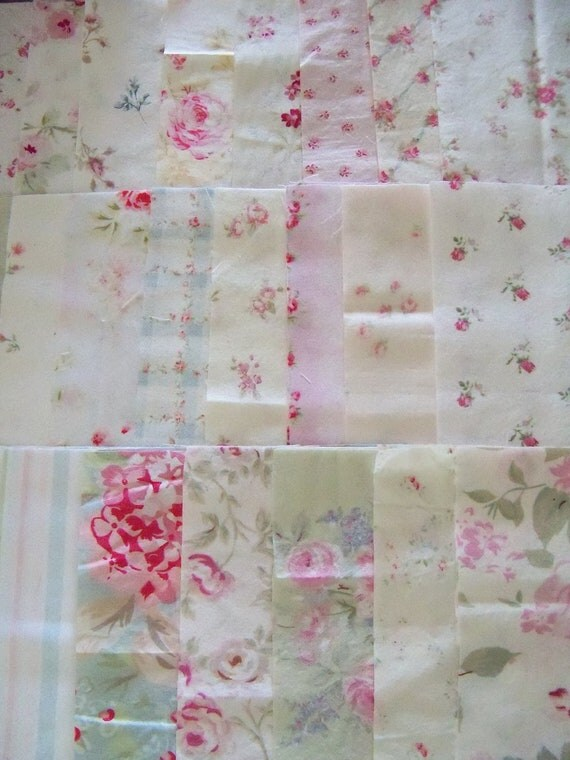 Simply Shabby Chic Roses Quilt Squares-Rachel Ashwell-6 inch-24 Different Pretty Patterns