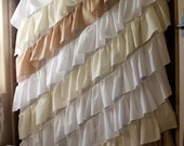 New To My Shop: Angled Ruffled Curtain Panel