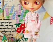 Sugarbabylove - Pink overall set for Blythe
