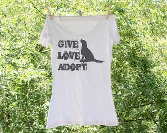 Give, Love, Adopt Dog Shirt