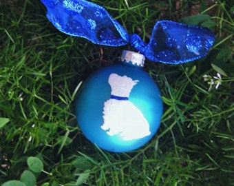 Hand Painted West Highland Terrier Ornament - Personalized Westie Ornament for Dog Lover, Christmas Bauble, Dog Ornament