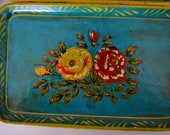 Shabby Vintage Hand Painted Serving Trays set of 11