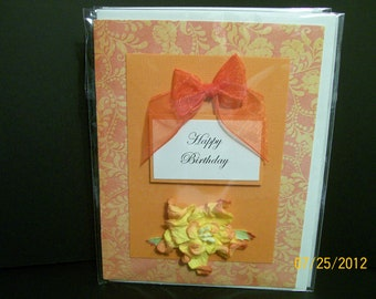 """CLEARANCE Handcrafted """"Birthday"""" Greeting Card"""
