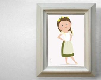 Custom Cartoon Portrait 1-person - Full Length