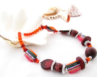 Ecofriendly Colour Wooden Necklace