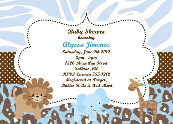 similiar safari baby shower invitations templates keywords, Baby shower