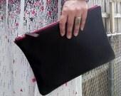 Merlot leather clutch
