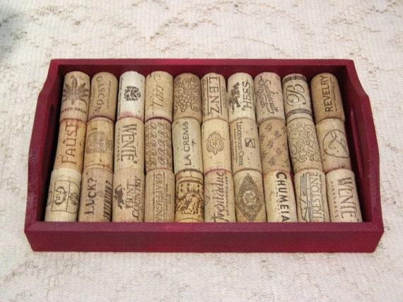 Wine Cork Coaster Trivet Hotplate Tray - Recycled Wine Corks