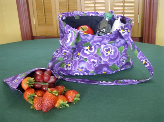 Reusable Shopping/Lunch Bag and Snack Bag - 2 piece set