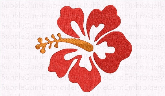 Hibiscus Flower Embroidery Design Instant Download