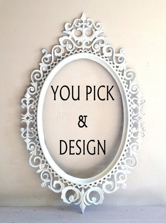 Oval Chalkboard Magnet Board Nursery Decor Shabby Chic Wedding Sign Chalk Board Kitchen Decor Bridal Gift - YOU PICK and DESIGN