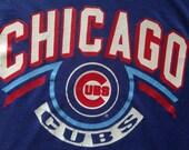 Vintage 1980's Chicago Cubs Baseball MLB T Shirt