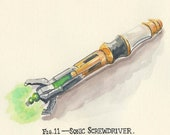 Sonic Screwdriver print various sizes
