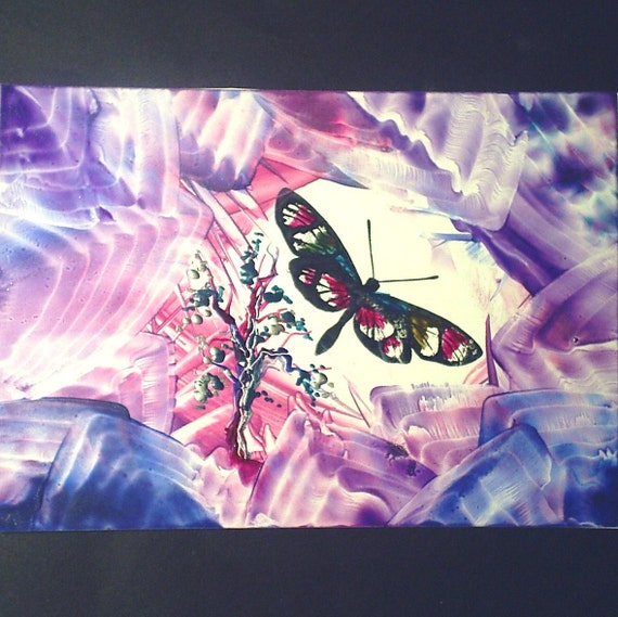 4x6 encaustic butterfly painting