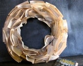 "18"" Book Paper Wreath - Mystery Lover Agatha Christie Wreath"